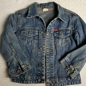 Vintage espirit denim Jean jacket quarter sleeve